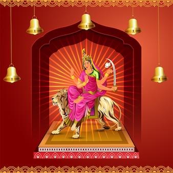 Realistic vector illustration of goddess laxami for happy dhanteras