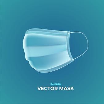 현실적인 벡터 의료 마스크