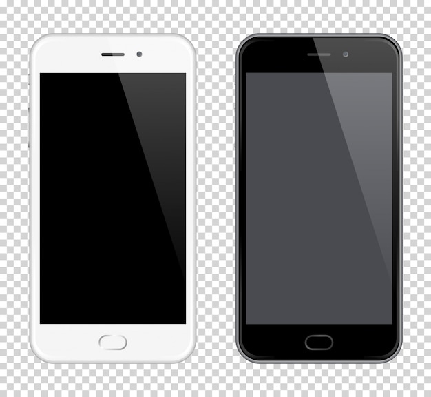 Realistic vector mobile phone