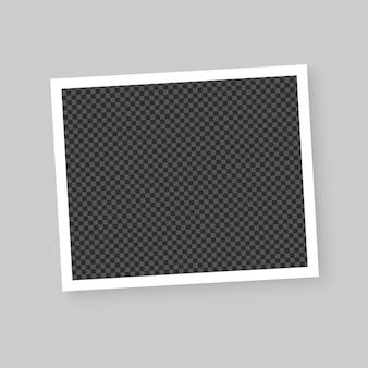 Realistic vector photo frame. template photo design. vector illustration