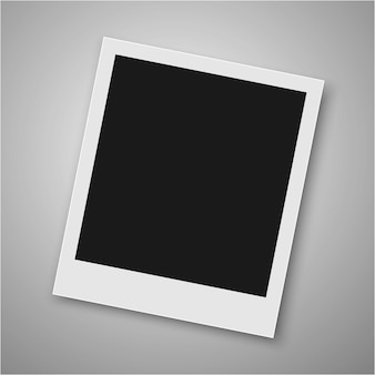 Realistic vector photo frame.
