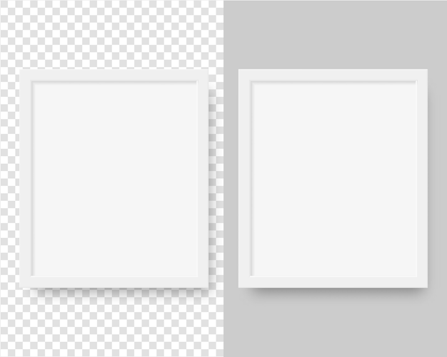 Realistic vertical picture frame. blank picture frame template. isolated. template design. realistic   illustration.