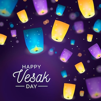 Realistic vesak day illustration
