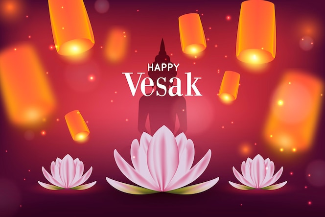 illustrazione realistica del giorno di vesak