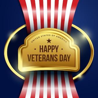 Realistic veterans day concept