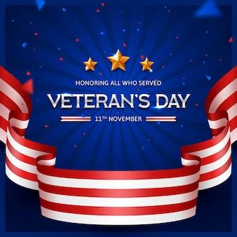 現実的な退役軍人の日 Premiumベクター