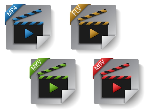Realistic video file format set