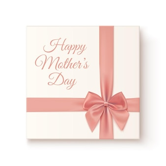 Realistic, vintage gift icon. greeting card for mothers day.