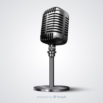 Realistic vintage microphone