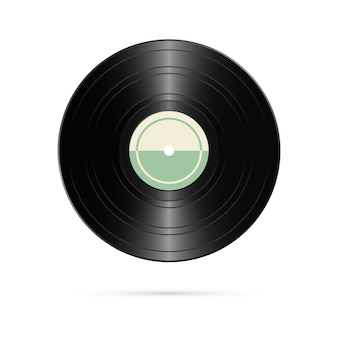 Realistic vinyl record. retro design.