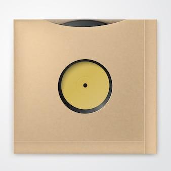 Realistic vinyl record