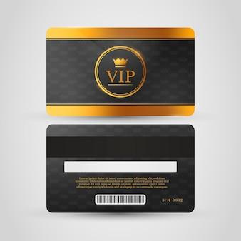 金色のディテールが施されたリアルなvipカードテンプレート