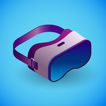 Realistic virtual reality glasses in isometry vector isometric illustration of electronic device