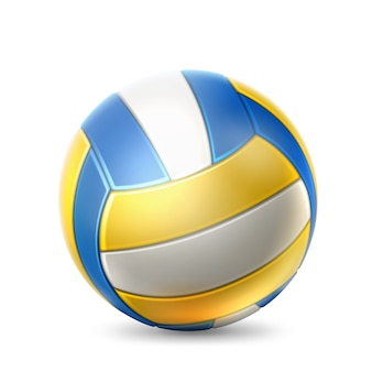 Realistic volley ball team sport game equipment ball for sport design