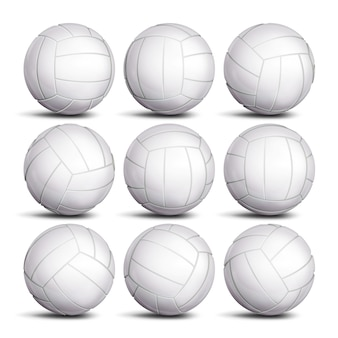 Realistic volleyball ball