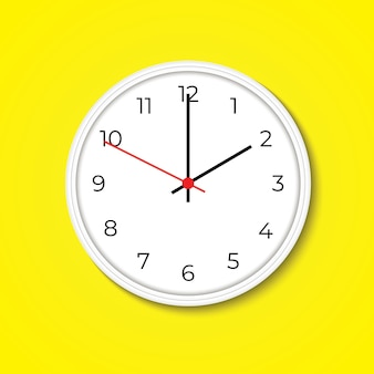 Realistic wall clock clock