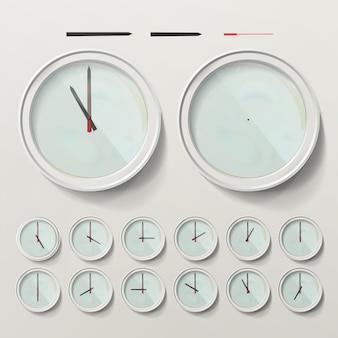 Realistic wall clocks