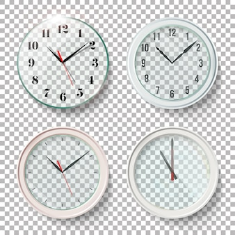 Realistic wall clocks