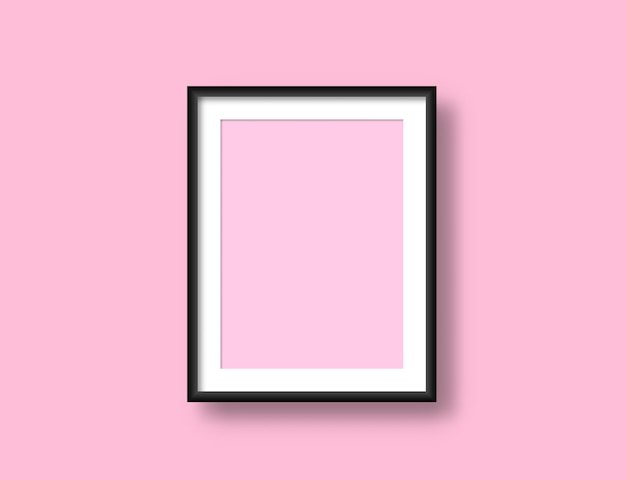 Realistic wall picture frame mockup for your design. painting modern blank artwork.