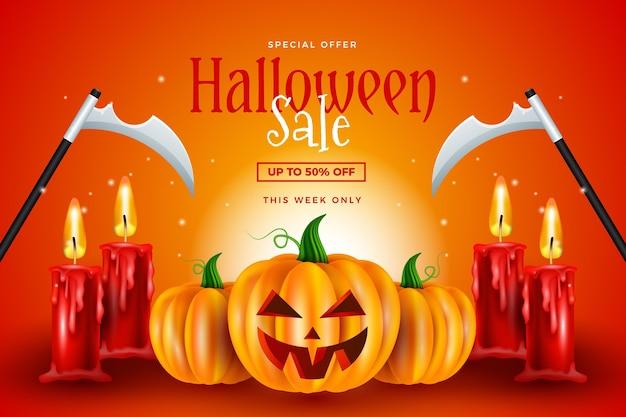 Реалистичные обои для распродажи на хэллоуин