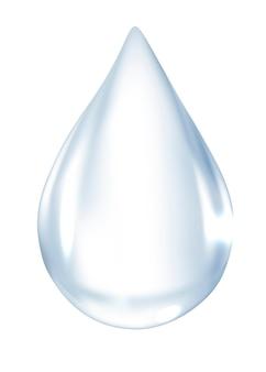 Vettore di elemento goccia d'acqua realistico