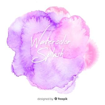 Realistic watercolor splash background