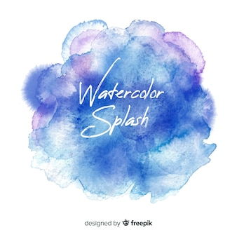 Realistic watercolor splash background