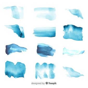 Realistic watercolor trace collection