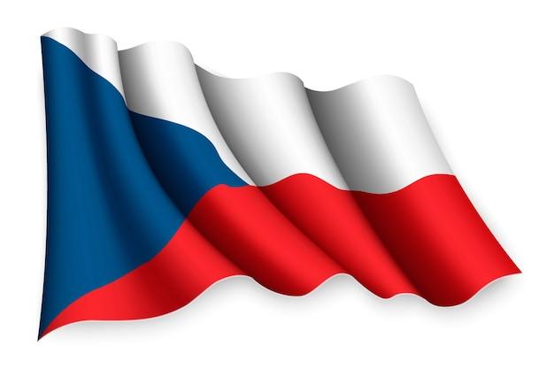 Реалистичный развевающийся флаг на белом