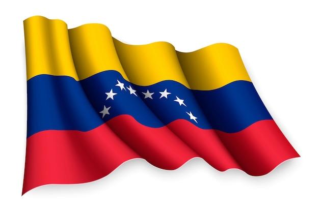 Реалистичный развевающийся флаг венесуэлы