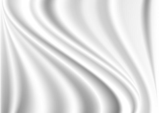 Realistic waving white background