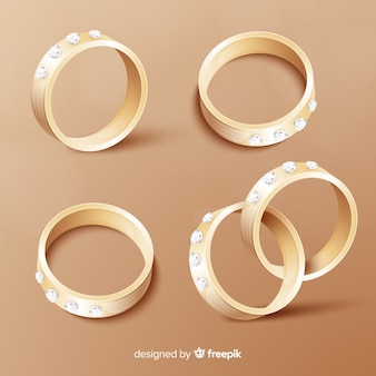 Realistic wedding rings