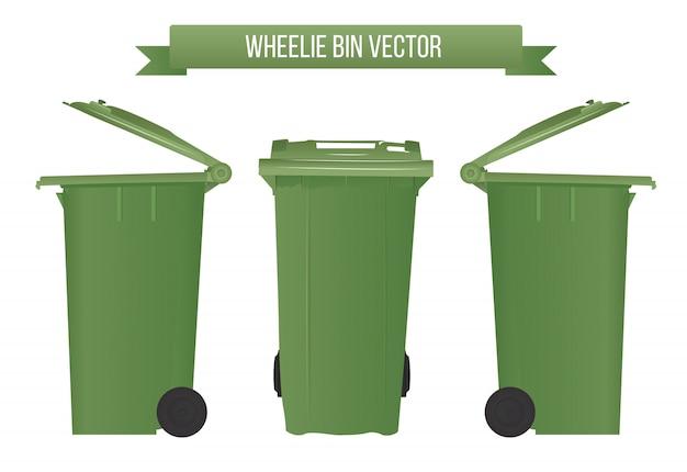 Realistic wheelie bin