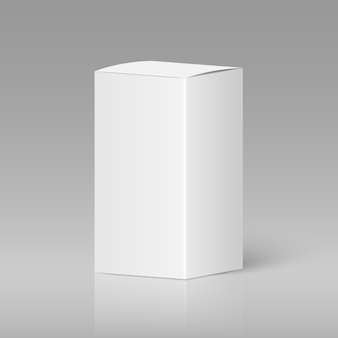 Realistic white blank box