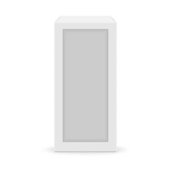 Realistic white blank box