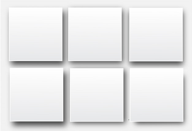 Realistic white blank vector posters