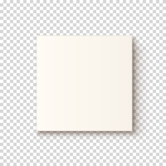 Realistic white box icon, top vew. template for greeting card, brochure or poster.