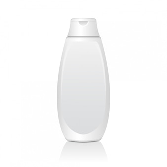 Realistic white cosmetic bottles. tube or container for cream, ointment, lotion. cosmetic vial for shampoo.   illustration.