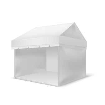 Realistic white empty pavilion