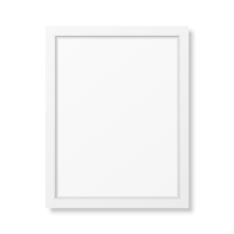 Realistic white frame a4 isolated on white.