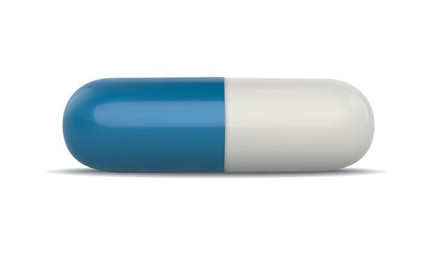 Реалистичные белые медицинские таблетки на белом