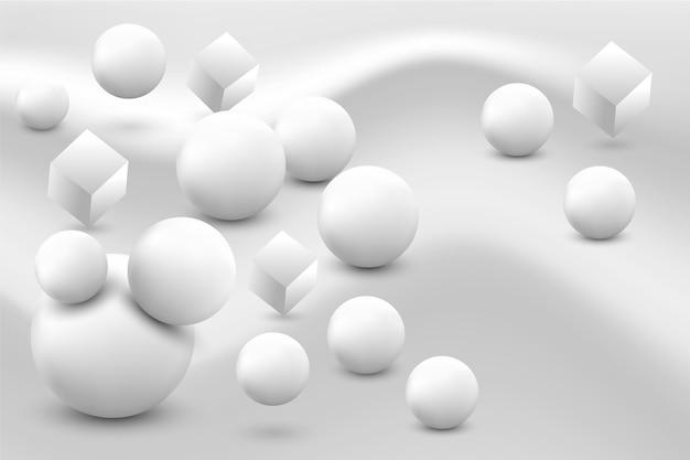 Sfondo bianco e nero realistico