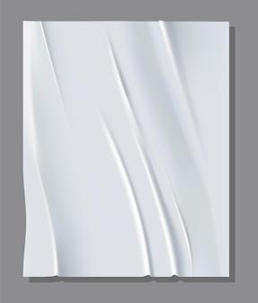 Реалистичный белый лист мятой бумаги.