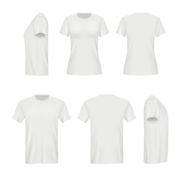 현실적인 흰색 티셔츠.