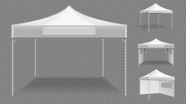 현실적인 흰색 텐트