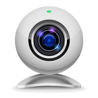 Realistic white webcam