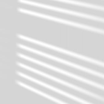 현실적인 창 빛과 그림자. 그림자 오버레이 효과. 벽에 긴 그림자 빛.