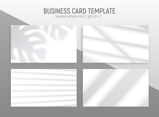 Realistic window light set with four horizontal monochrome cards with blurry silhouette illustration