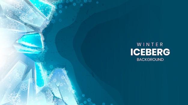 Realistic winter iceberg background