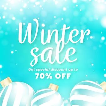 현실적인 겨울 판매 개념